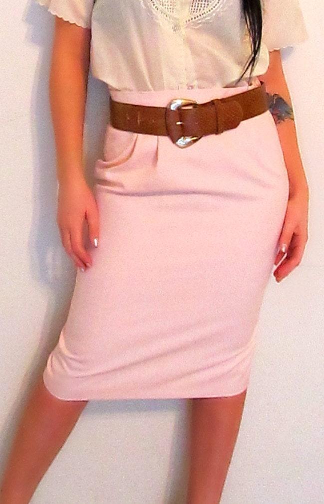 lovin it light pink pencil skirt by sprightlyandco on etsy