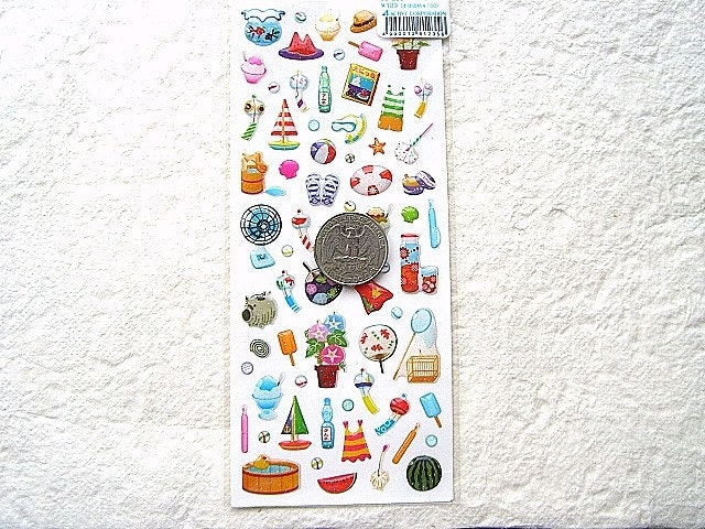Kawaii Cute Japanese Summer Stickers-Summer Goods (S651)