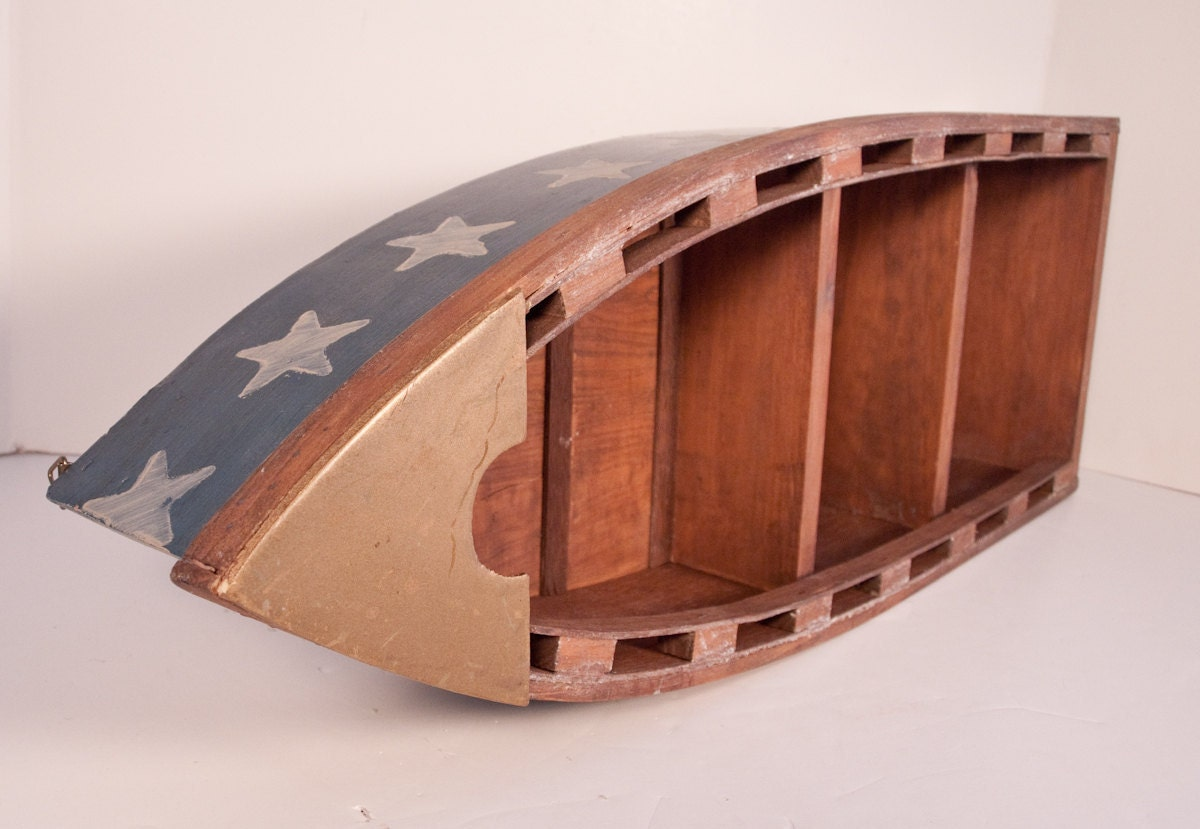 Superb img of Handmade Wooden Nicknack Shelf Shaped like a Boat by ARTinBOXES with #3D1510 color and 1200x829 pixels