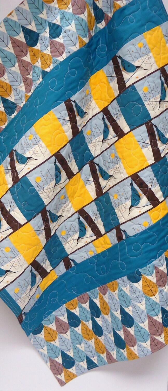 Baby Quilt Gender Neutral Rustic Modern Organic Birch