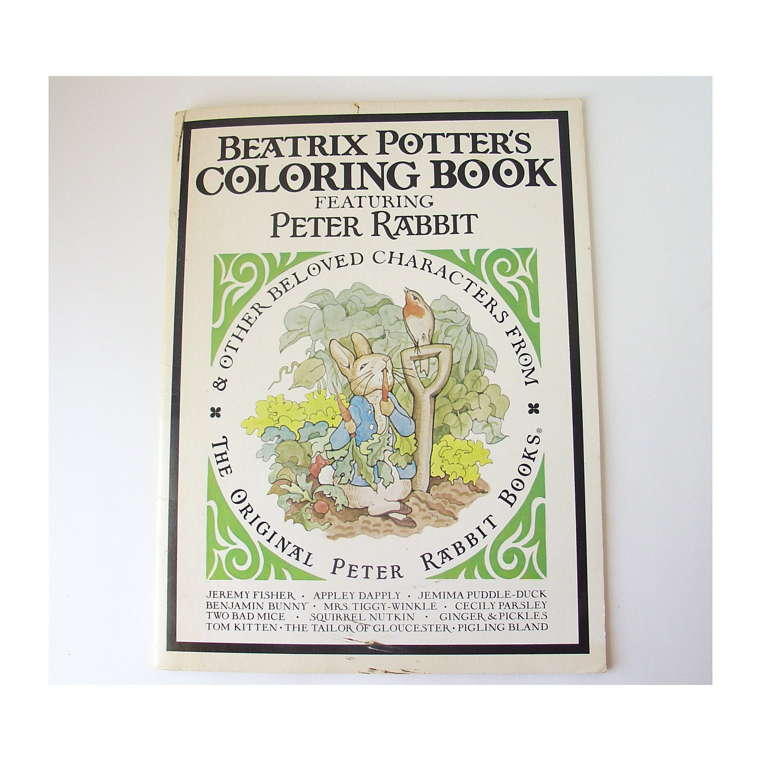 Vintage Beatrix Potter Coloring Book Featuring By HappyBlueMoon