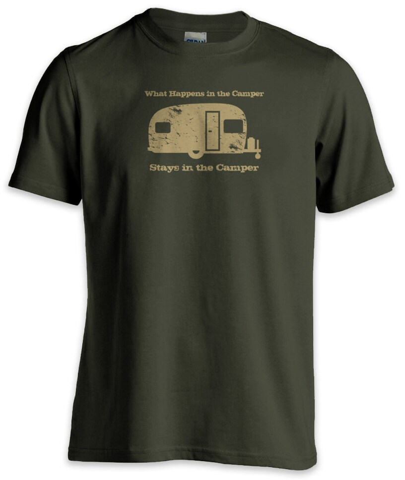 what happens in the camper funny t shirt by shirtnic on etsy
