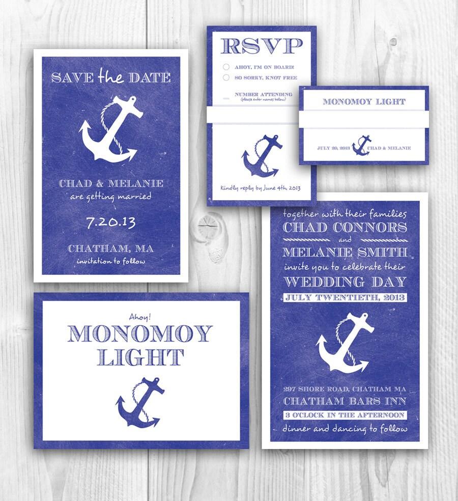Items Similar To Nautical Wedding Invitation And Theme