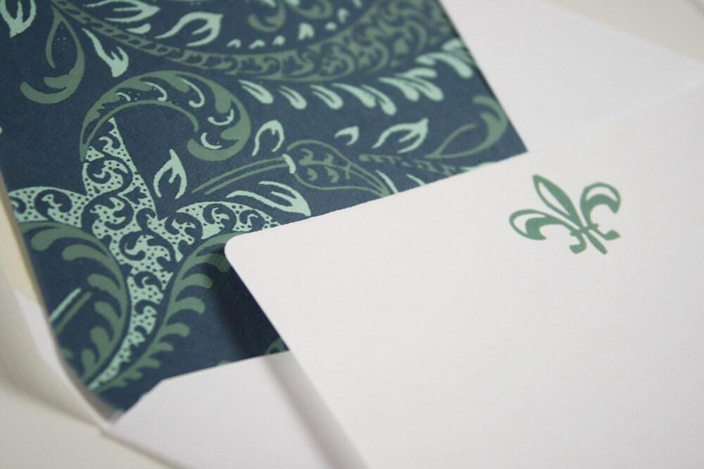 Fleur-De-Lis Note Cards