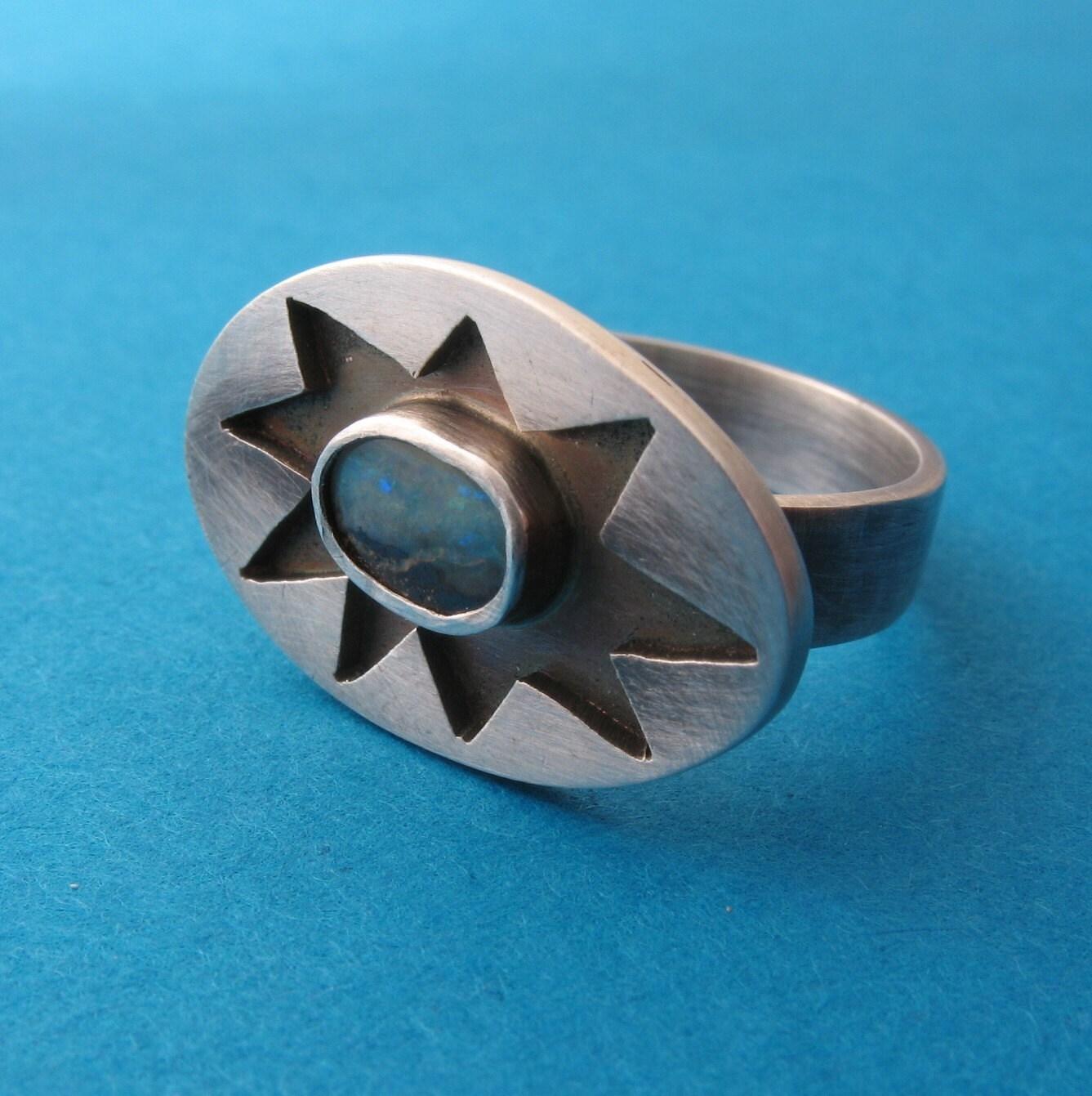 Opal Starburst Ring