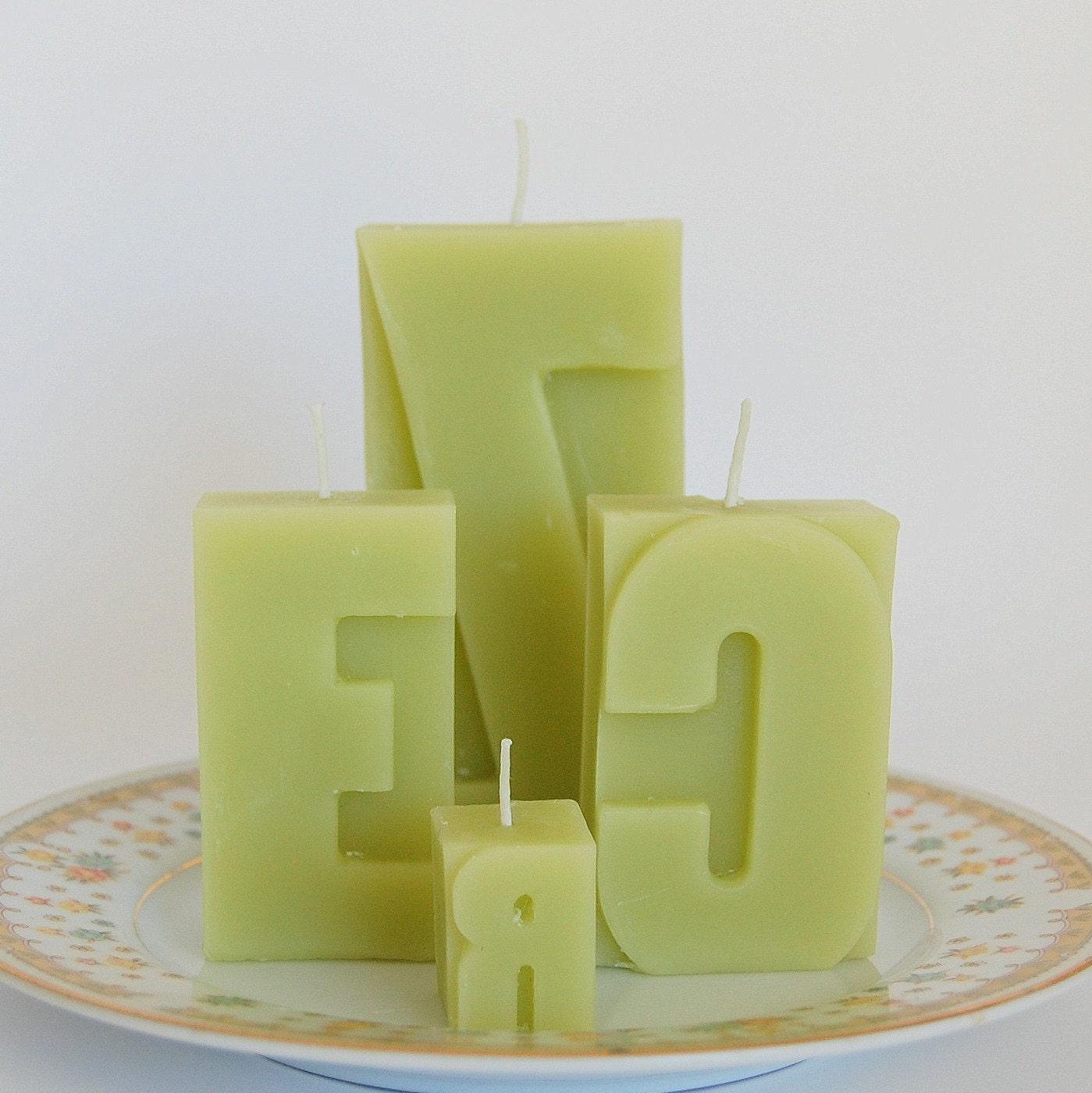 Letterpress Candles