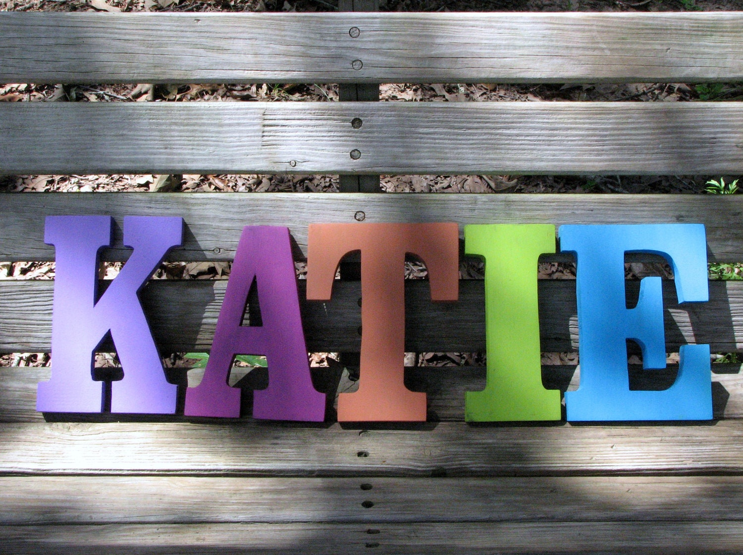 Wooden letters for nursery kids room decor by for Letters for kids rooms