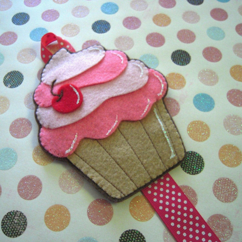 Felt Cupcake Bow Holder