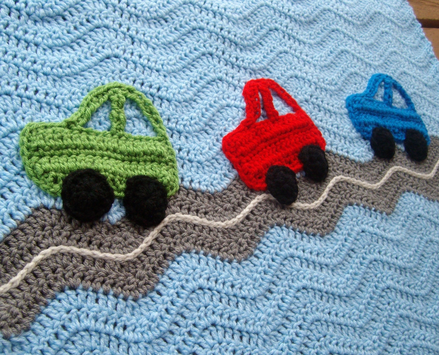 Free Crochet Pattern For Baby Car Blanket : Car Baby Boy Blanket Crochet Blanket Ripple Afghan by ...