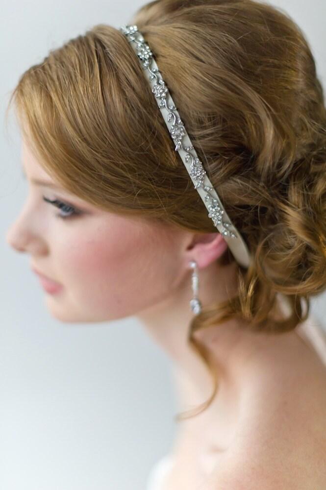 Bridal Ribbon Headband Luxe Satin Ribbon By PowderBlueBijoux