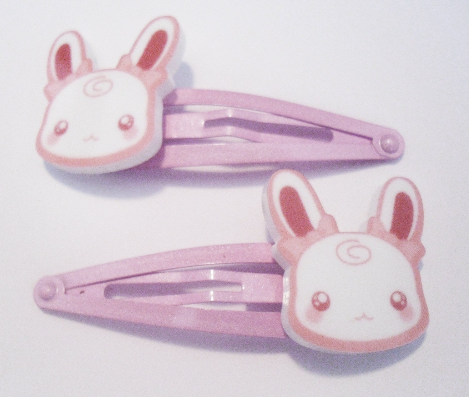 SALE - KAWAII Bunny Rabbit - Pink Hair Clip Snap