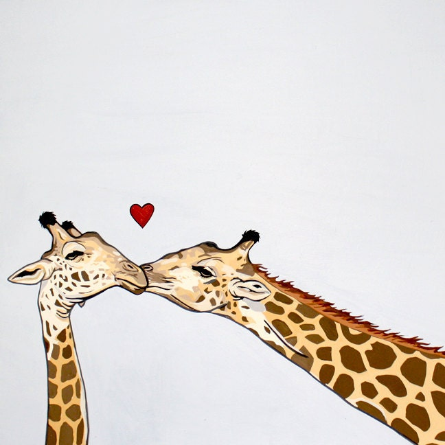 Giraffes In Love Larsen Pablo: Pictures...