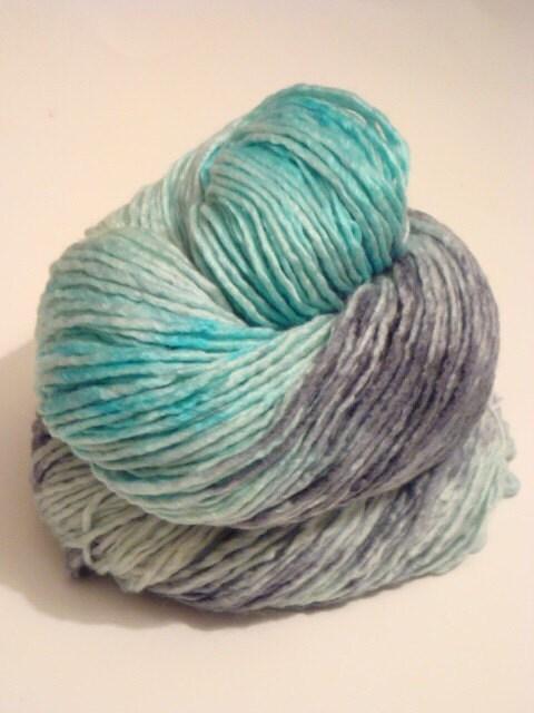 Stormy Hand Painted Merino Silk Worsted Weight Yarn 250 Yards