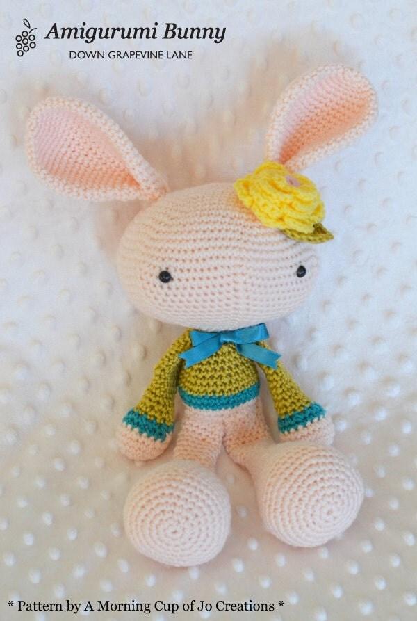 Crochet Spring Bunny amigurumi rabbit by DownGrapevineLane