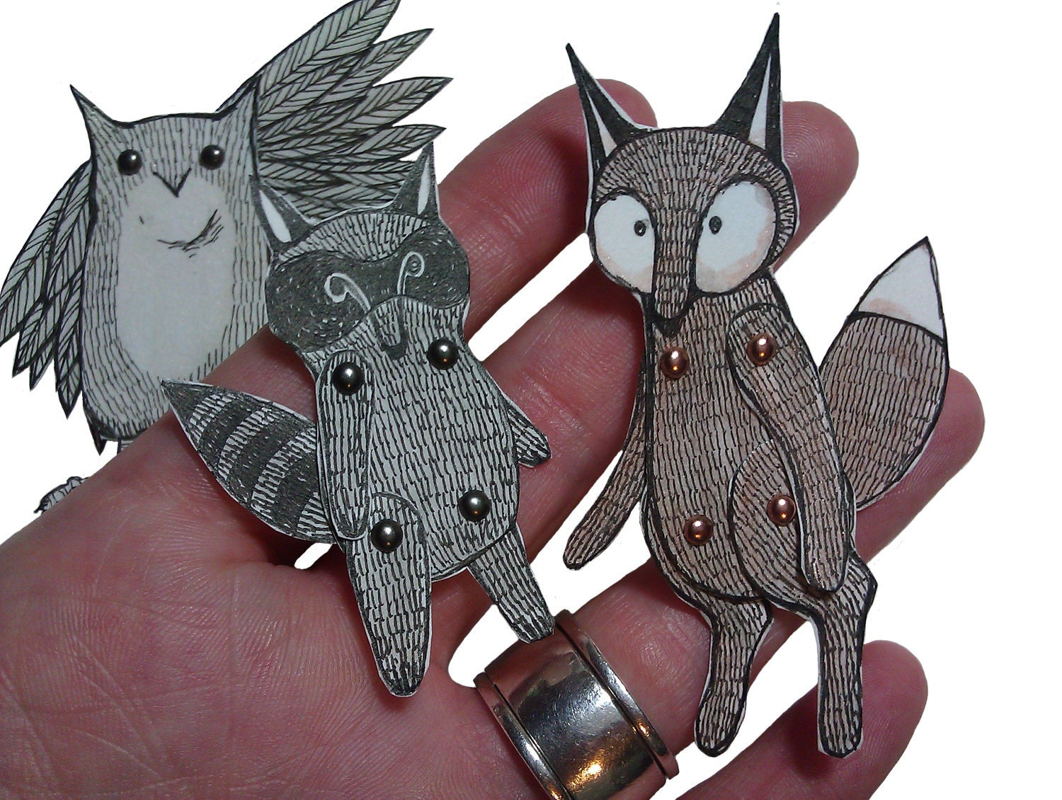 Fox! Raccoon! Owl! DIY cuteness!