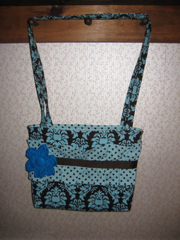 Damask and Dots Tote Bag