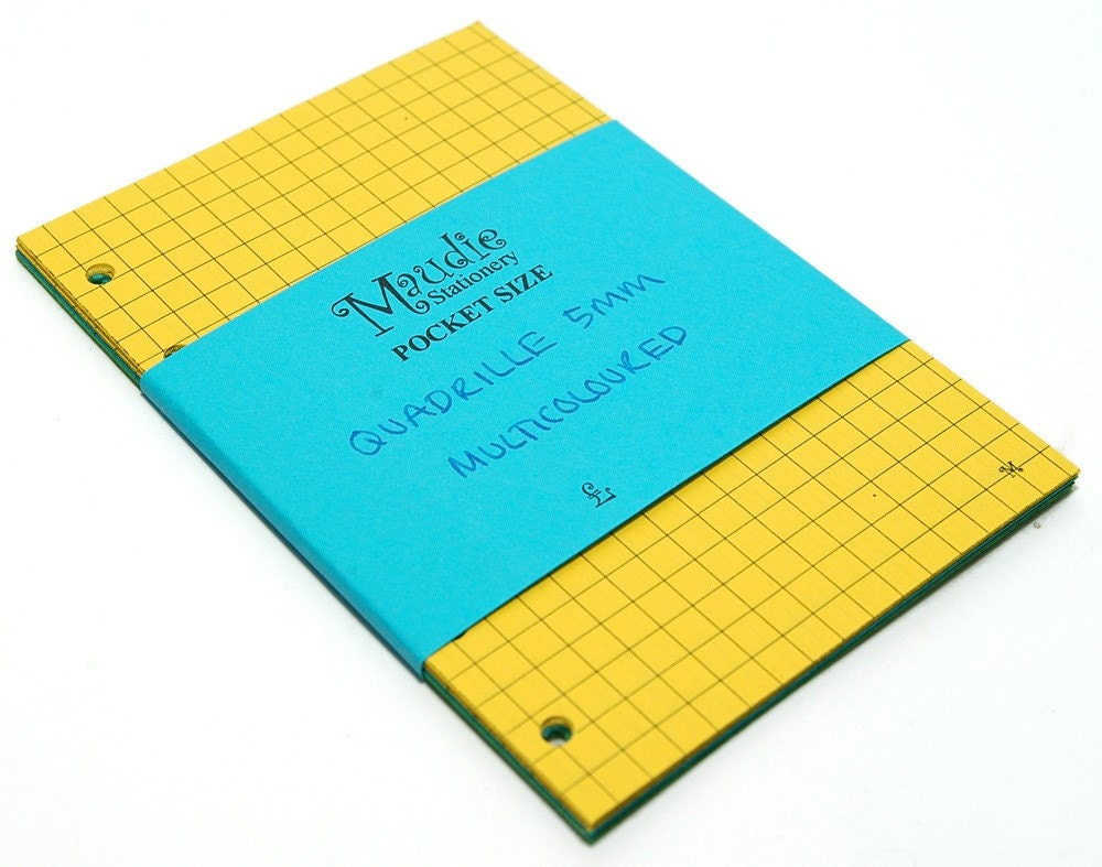 Squared notepaper inserts - Pocket Filofax or Organiser