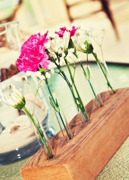 Rustic Wedding CENTERPIECE Decoration Chic Wedding Flower Vase Reclaimed