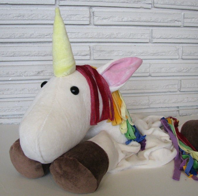 OBV Rainbow Unicorn Pillow Friend