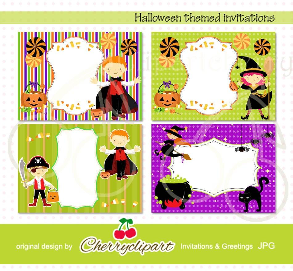 halloween themed invitation templates