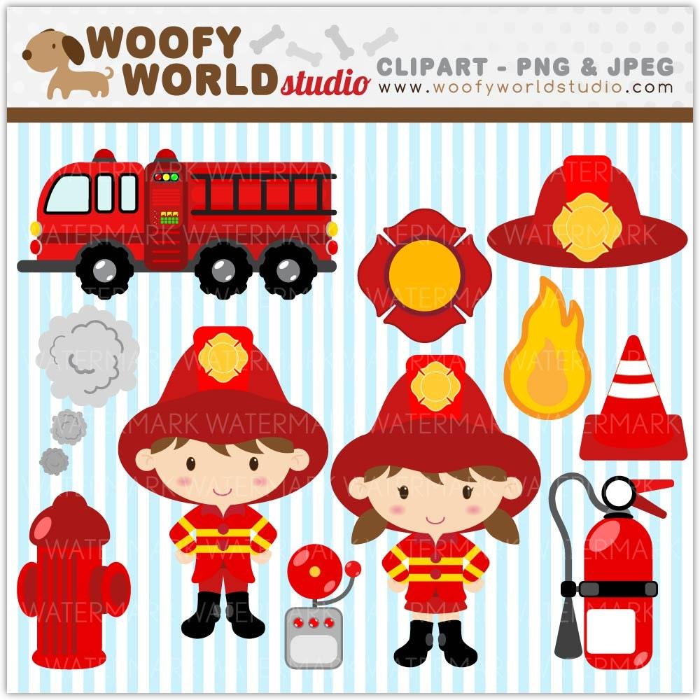 Fire Truck Clip Art Fire truck kid clipart instant