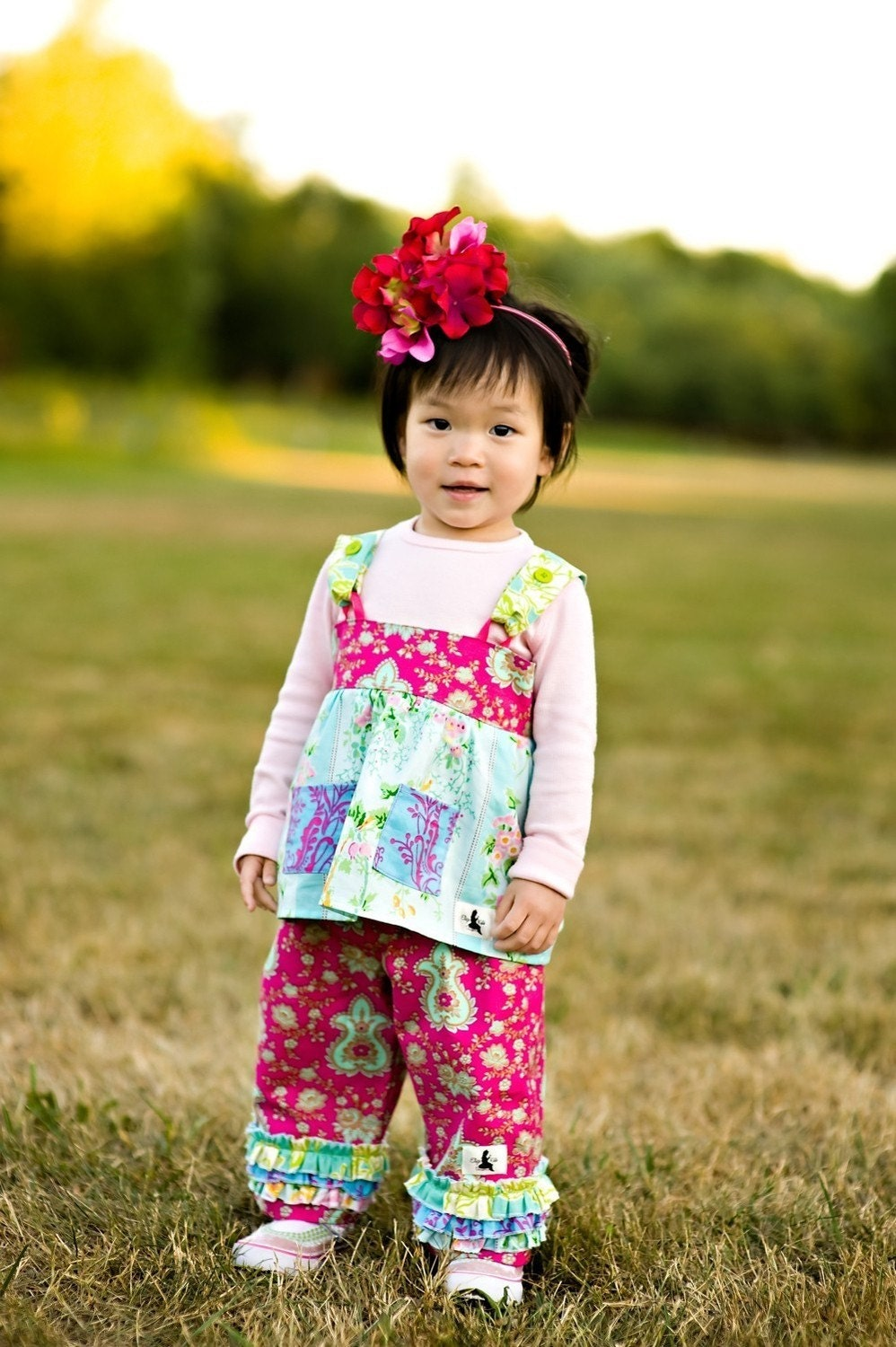 Bold Blooms Ruffled Fancy Pants Size 2T, 3T, or 4T