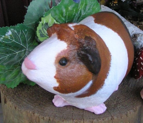 guinea pig statues life sized painted by enchantdmushroomland