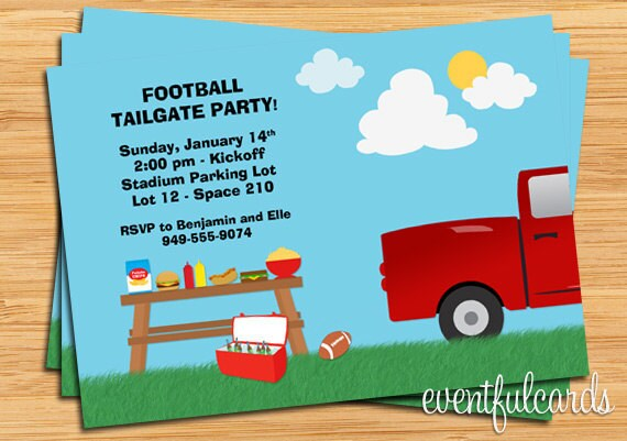 Tailgate Party Invitations was luxury invitation sample