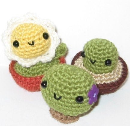 Tiny Ami Plants Crochet Pattern