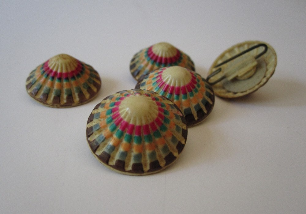 Vintage Cone Shaped Buttons