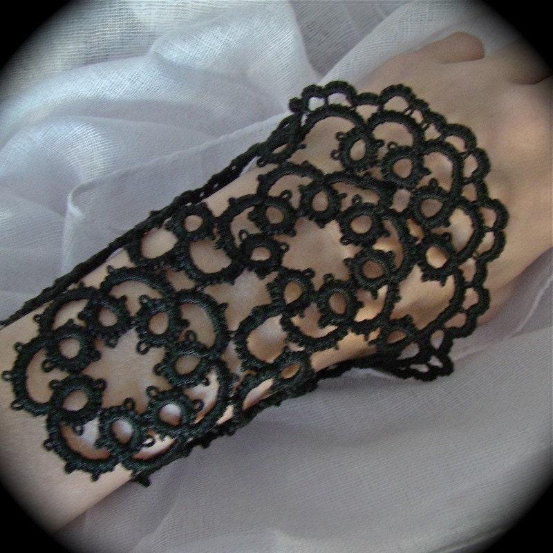 Vanity - Tatted Cuff Bracelet