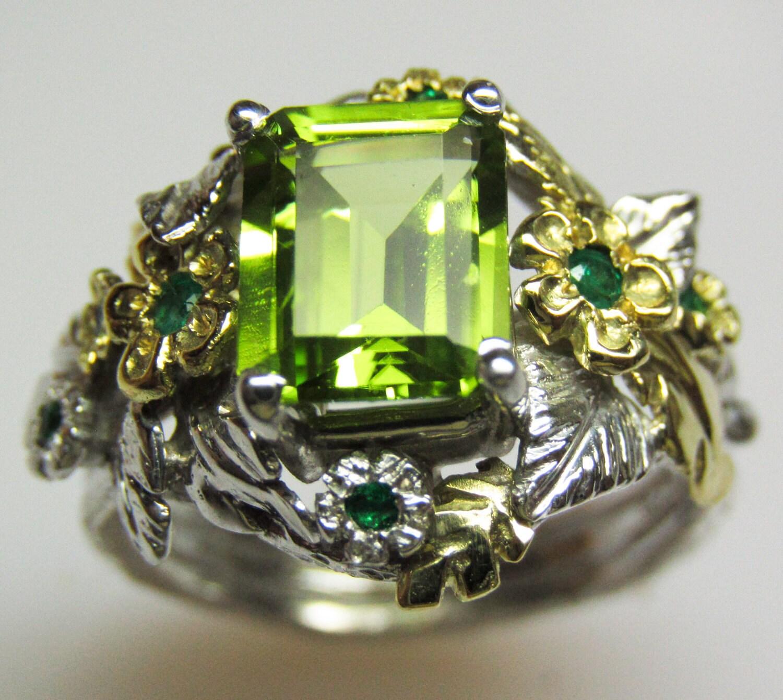 items similar to peridot emerald empress ring custom