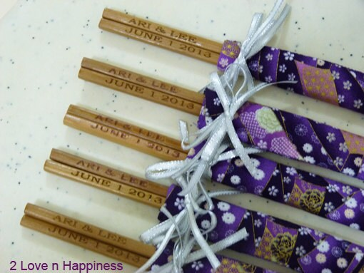 Japanese Chopsticks Wedding Favors With By 2LovenHappiness On Etsy