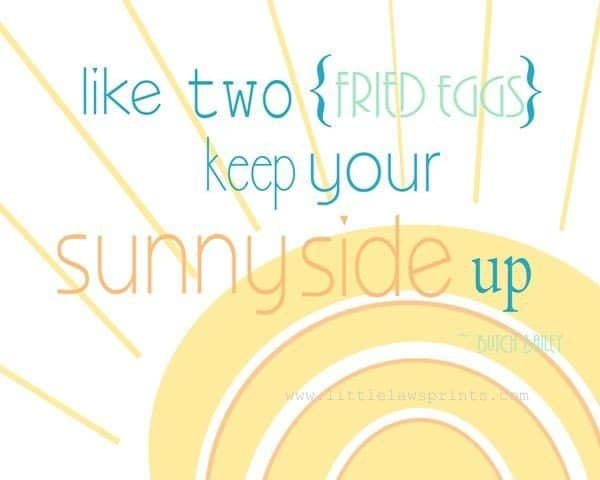 Sunny side up print