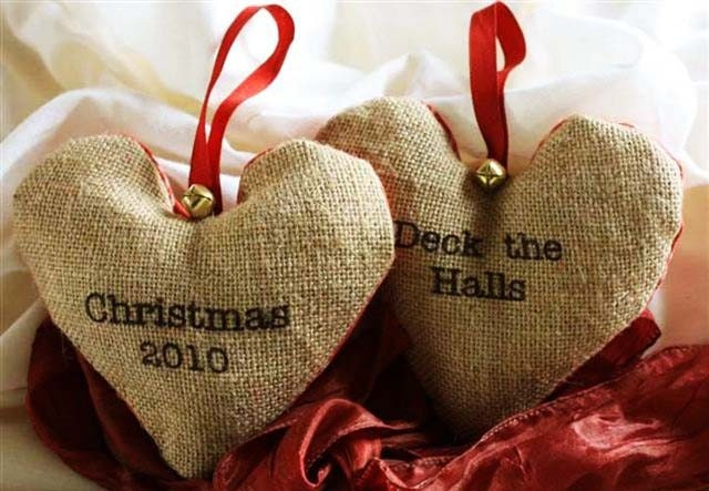 Christmas heart decorations. Deck The Halls, Christmas 2010