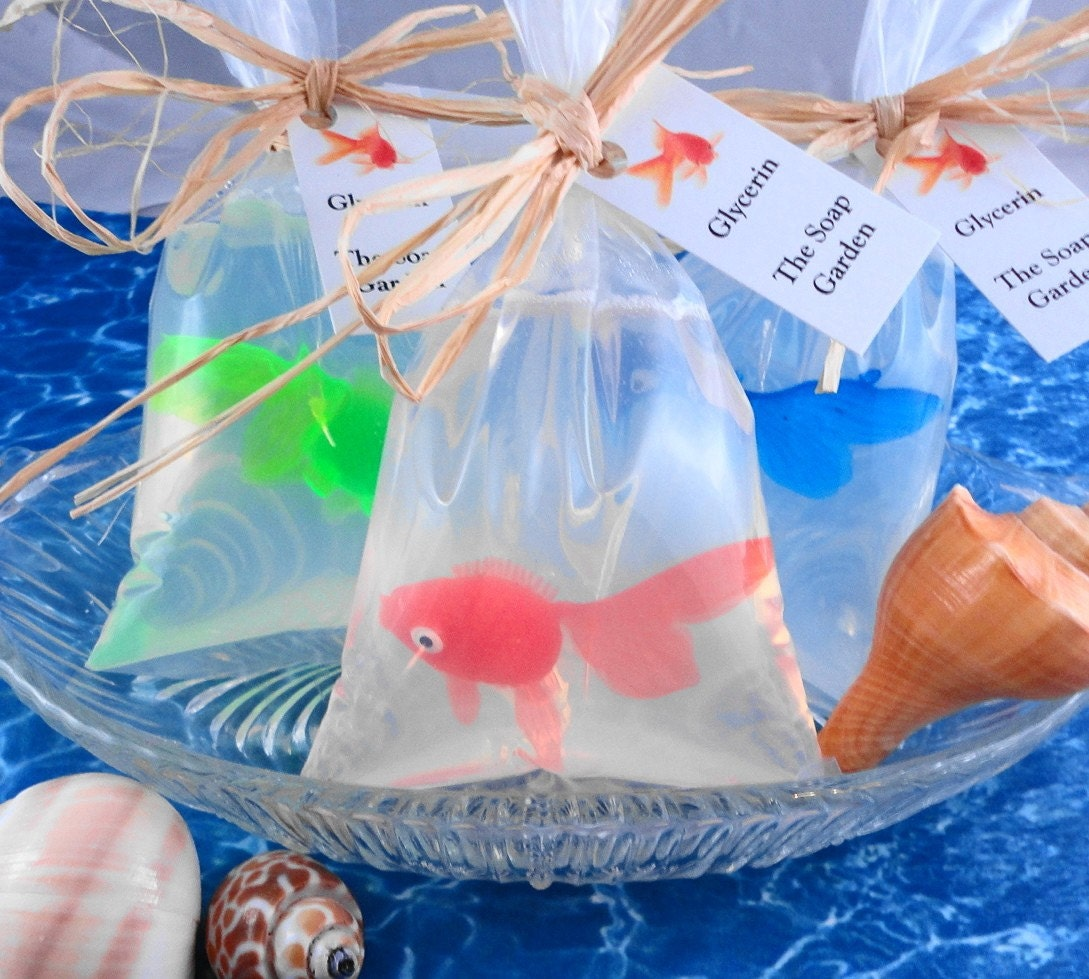 Soap - Goldfish in a Bag  Soap - Glycerin Soap - Handmade Soap -