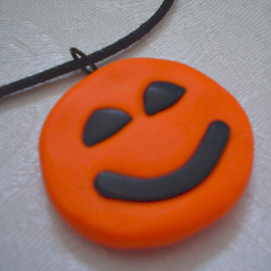 Don't Worry, Be Pumpkin Necklace
