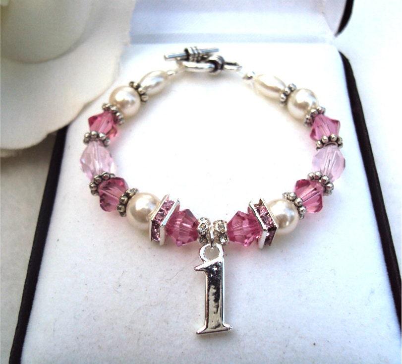 Babys 1st Birthday Keepsake Bracelet By TraceysCustomDesigns