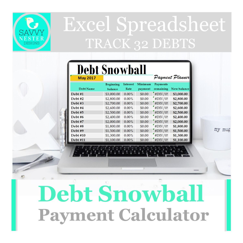 Debt Snowball Calculator Excel Template Mandegarfo