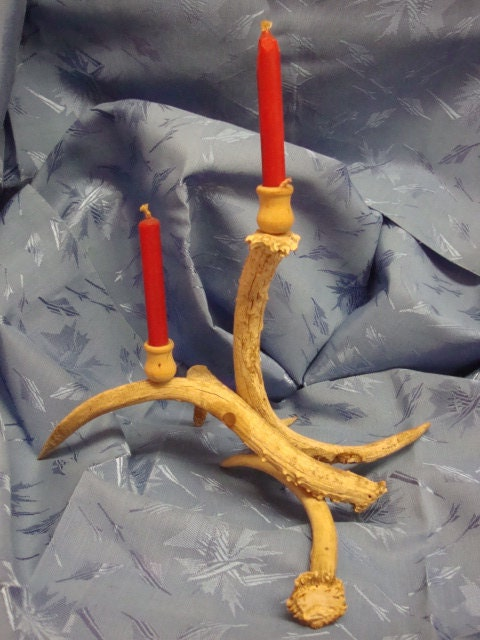 Hideous Antler Candle Holder