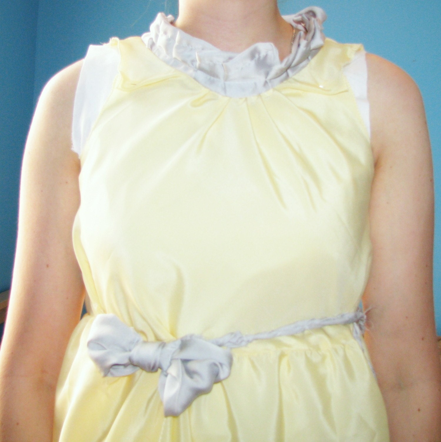 Isadora Buttercream Ruffly Dream Silk Dress   Isadora Buttercream Ruffly Dream Silk Dress