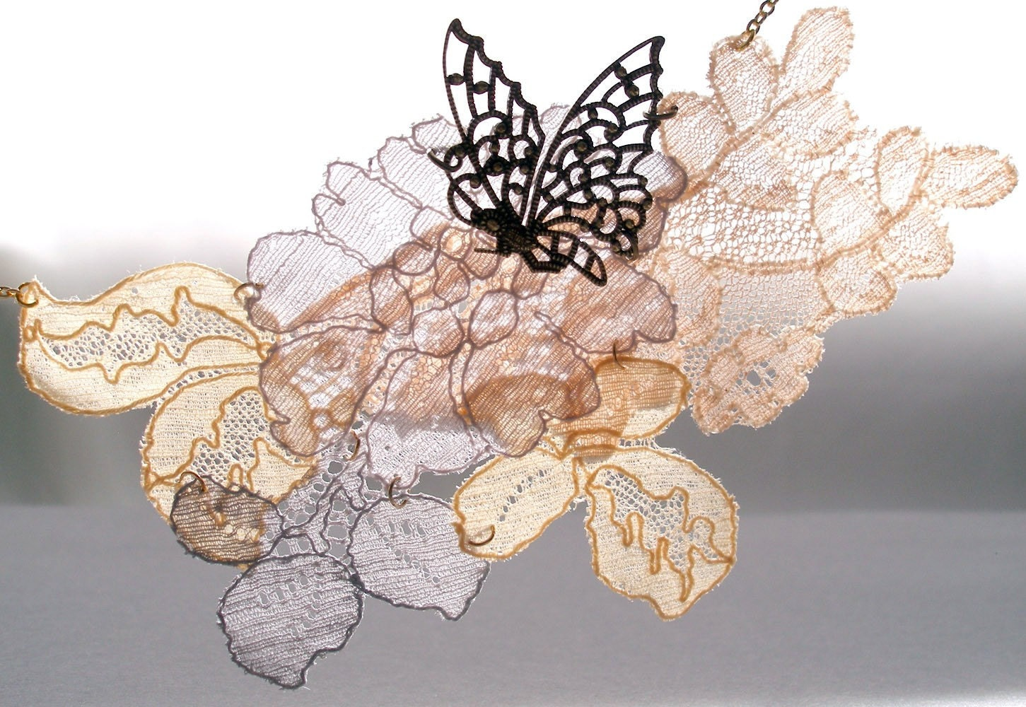 Flutter-by vintage french lace necklace 2