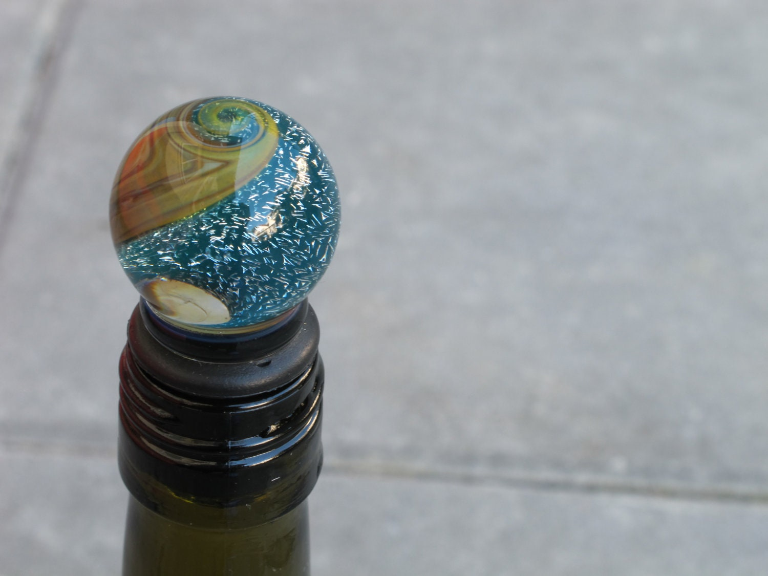 Braden Hammond Glass - Dichroic Glass Wine Stopper