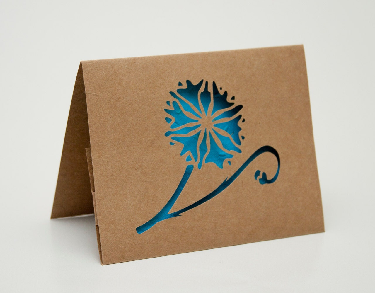 Cornflower Plantable Cut Paper Flower Card - starflycreations