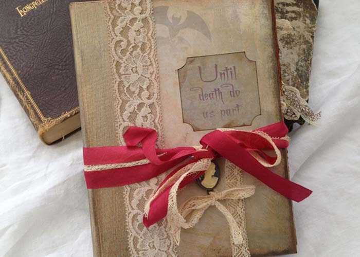 Gothic wedding guestbook  Haunted house themed