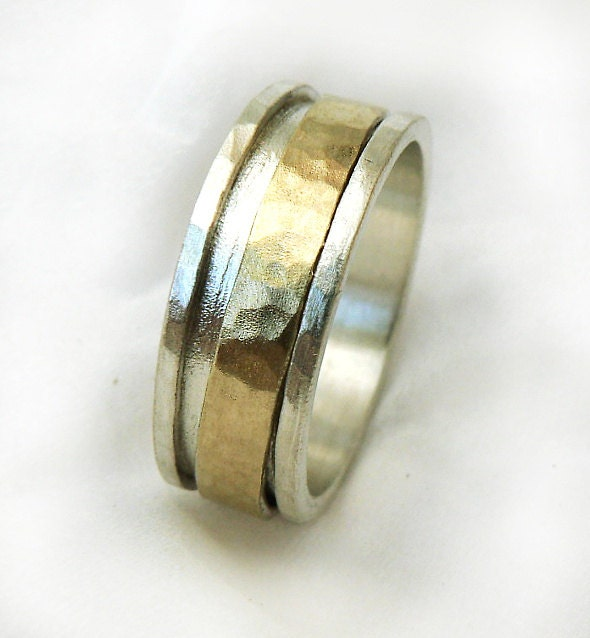 gold spinner s ring mens shiny wedding band by ilanamir