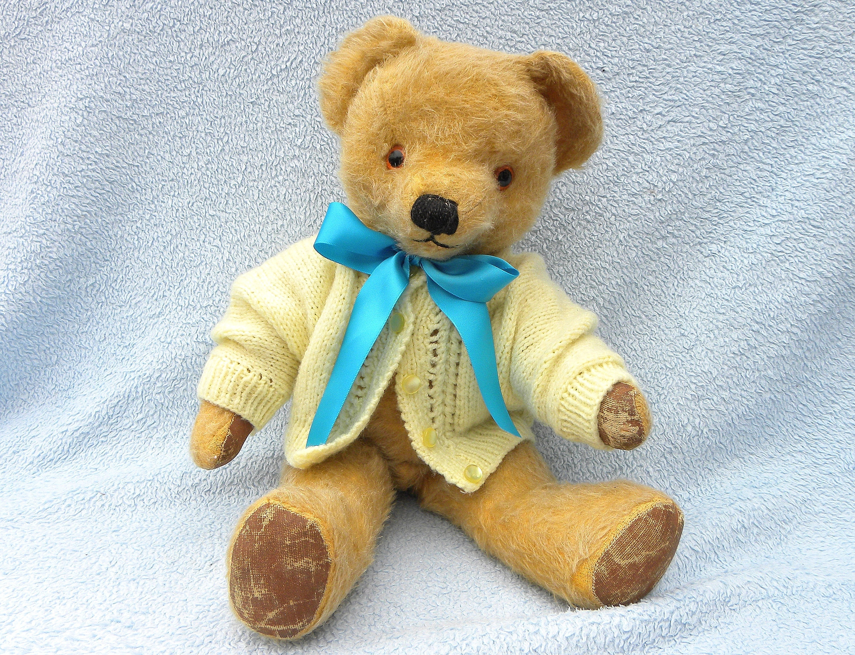 Vintage English 16 Mohair Bear Merrythought or Chad Valley Teddy from the 1960s