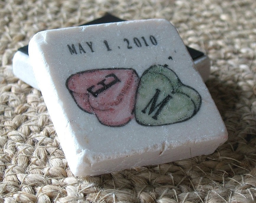 Personalized Candy Hearts Save the Date Magnets and Wedding Favors, Set of 100