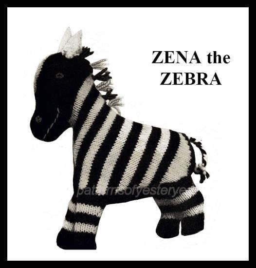 Items similar to ViNTAGE KNiTTING PATTErN TOY ZeNA the ...
