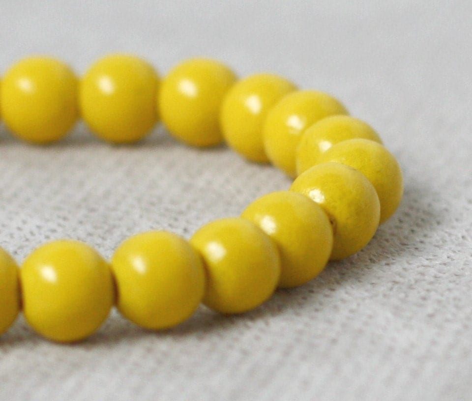 sun recycled beads bracelet by annielina on Etsy